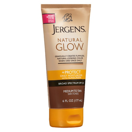 Jergens Natural Glow & Protect Daily Moisturizer SPF 20 Medium to Tan