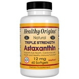 Healthy Origins Astaxanthin 12mg Triple Strength, Softgels