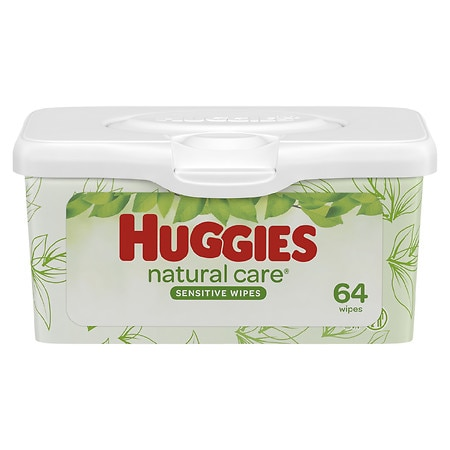 Huggies Natural Care Baby Wipes, Pop-Up Tub, Fragrance-free, Alcohol-free, Hypoallergenic Fragrance Free - 64 ea