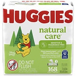 Huggies Natural Care Baby Wipes, Soft Pack (168 Sheets), Fragrance-free, Alcohol-free, Hypoallergenic Fragrance Free