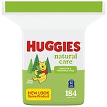 Huggies Natural Care Baby Wipes, Refill Pack, Fragrance-free, Alcohol-free, Hypoallergenic Fragrance Free