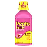 Pepto-Bismol Liquid for Nausea, Heartburn, Indigestion, Upset Stomach, and Diarrhea Relief Cherry