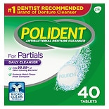Polident Partials, Antibacterial Denture Cleanser Triple Mint Freshness