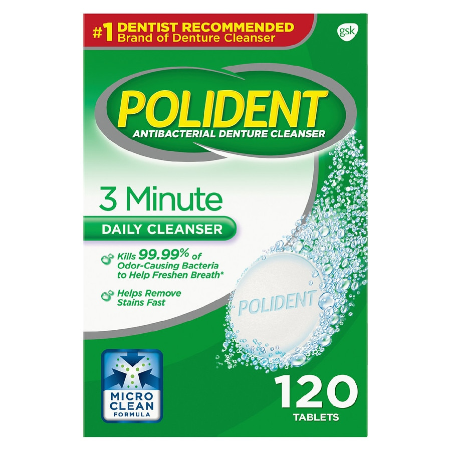 Strange Polident 3 Minute Antibacterial Denture Cleanser Tablets Download Free Architecture Designs Scobabritishbridgeorg