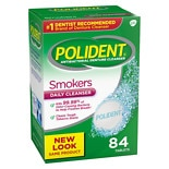 Polident Smokers, Antibacterial Denture Cleanser, Bonus Pack Triple Mint Freshness
