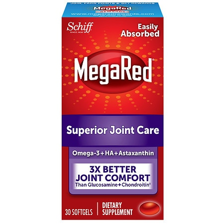 Schiff MegaRed Krill Oil Joint Care Dietary Supplement Softgels