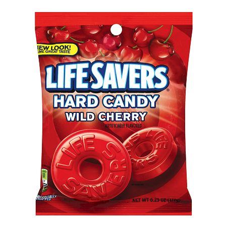 LifeSavers Candy, Individually Wrapped Wild Cherry