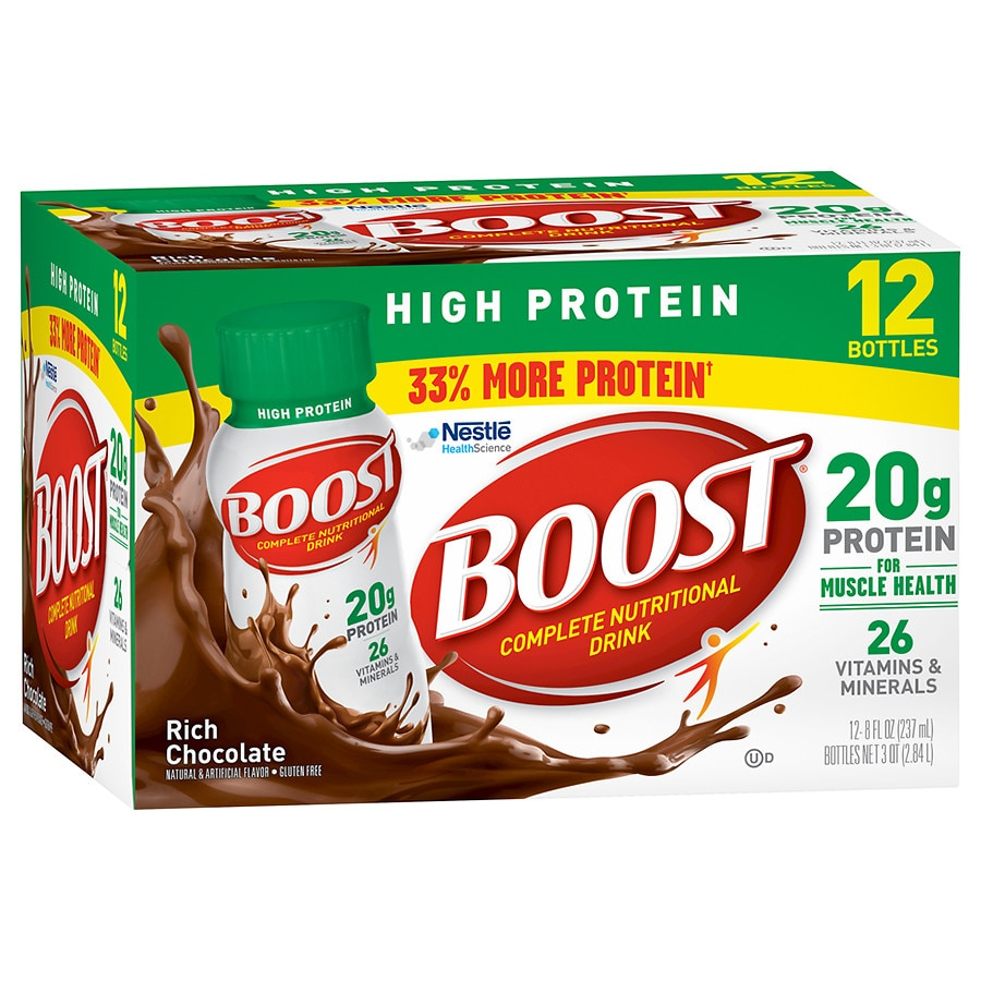 boost high protein complete nutritional drink chocolate sensation walgreens. Black Bedroom Furniture Sets. Home Design Ideas
