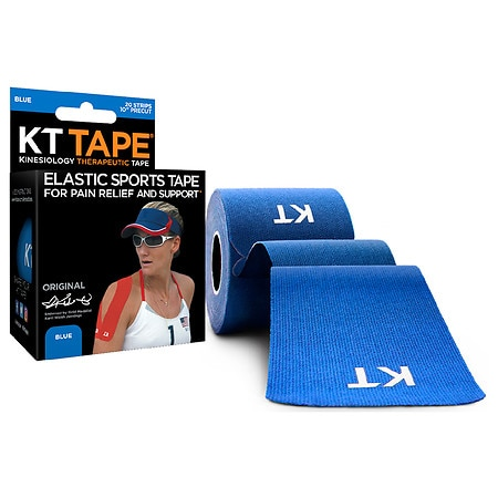 KT Tape Kinesiology Therapeutic Tape Precut Strips - 20 ea