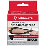 Mueller Kinesiology Tape, Continuous Roll Black