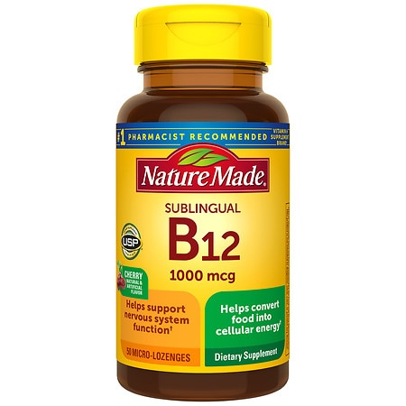 Nature Made B-12 Vitamin 1000 mcg Dietary Supplement Micro ...