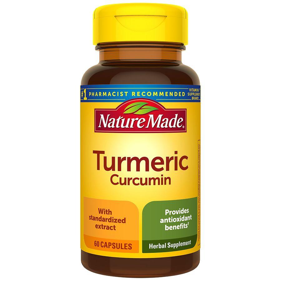 turmeric supplement herbal capsules nature supplements curcumin walgreens vitamins herbs drugstore