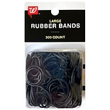 Walgreens Beauty Silicone Rubberbands Black