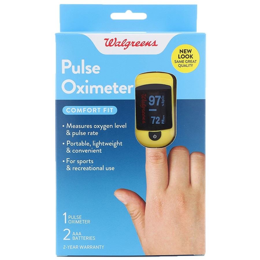 Walgreens Pulse Fingertip Oximeter C20 - Measures Oxygen Level & Pulse Rate