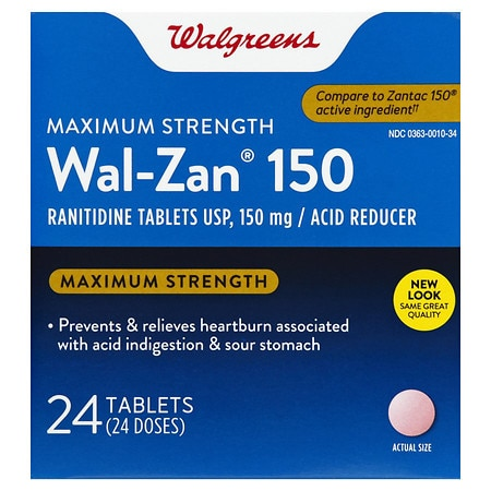 Walgreens Wal-Zan 150 Acid Reducer Tablets Maximum Strength