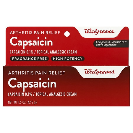 Walgreens Capsaicin Arthritis Pain Relief Cream