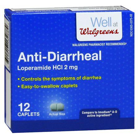 Walgreens Anti-Diarrheal Caplets - 12 ea