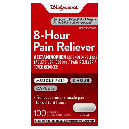 Walgreens Pain Reliever, 8 Hour, Caplets