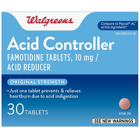 Walgreens Acid Controller and Acid Reducer Tablets Original Strength - 30 ea