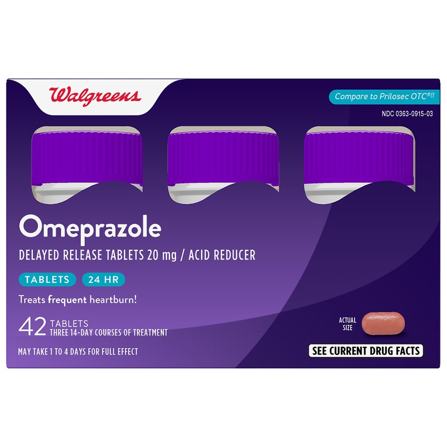 graphic regarding Prilosec Printable Coupon referred to as Walgreens Omeprazole 20 mg Supplements Bottle