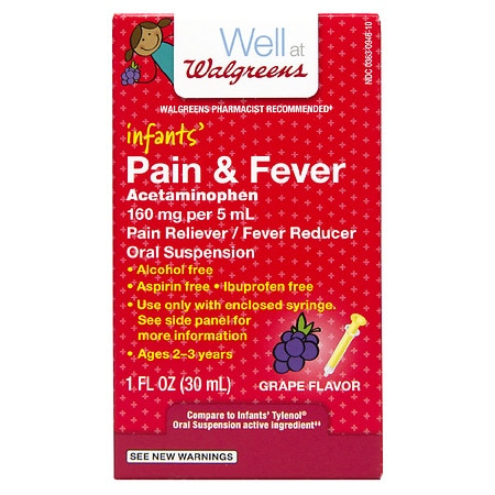 Walgreens Infants' Pain & Fever Suspension Liquid Grape
