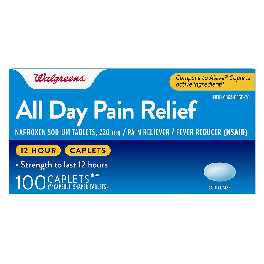 Walgreens All Day Pain Relief Caplets Walgreens