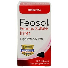 Feosol Ferrous Sulfate Iron Tablets Walgreens