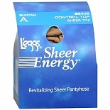 L'eggs Sheer Energy Control Top Sheer Toe Pantyhose A Suntan