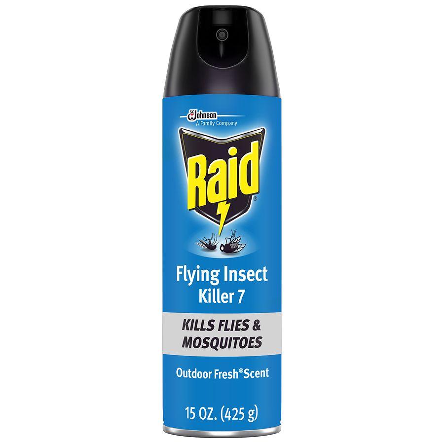 Raid Flying Insect Killer Formula 6 Spray Outdoor Fresh ...