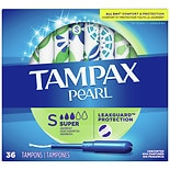 Tampax Pearl Tampons Unscented, Super