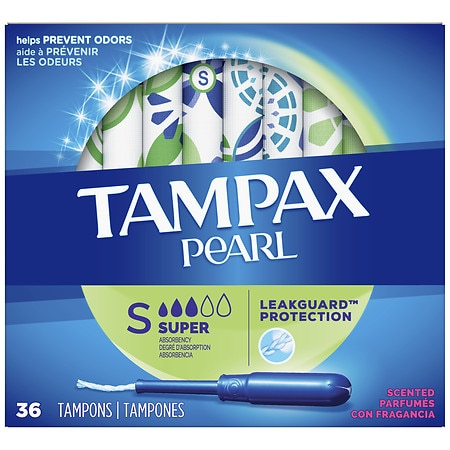 Tampax Pearl Plastic Tampons, Scented Fresh Scent, Super - 36 ea