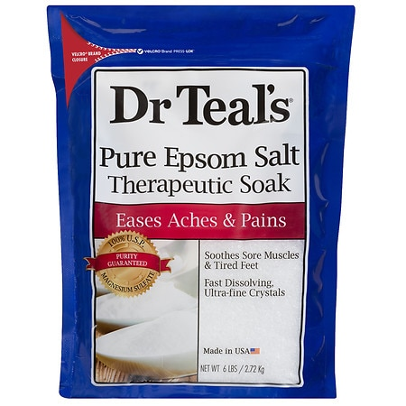 Dr. Teal's Epsom Salt Soaking Solution Magnesium Sulfate USP Unscented - 96 oz.