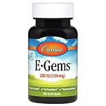 Carlson E-Gems Natural Vitamin E 200 IU, Softgels
