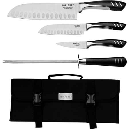 Top Chef 5-piece Cutlery Set in Carrying Case