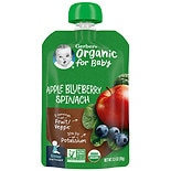 Gerber 2nd Foods Organic Baby Food Pouch Apples Blueberries & Spinach