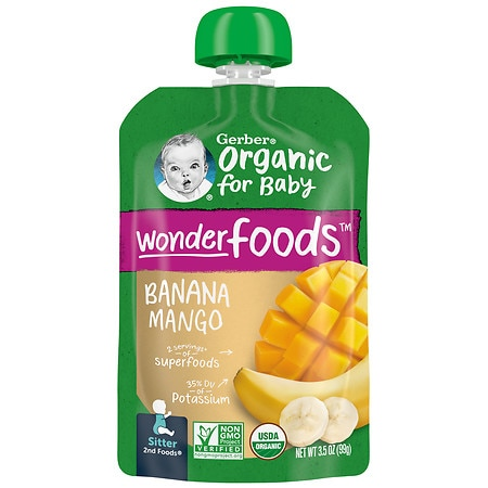 Gerber 2nd Foods Organic Baby Food Pouch