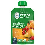 Gerber 2nd Foods Organic Baby Food Pouch Pears, Peaches & Strawberries