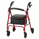 Nova Vibe Rolling Walker with 6 inch Wheels 4236RD Red