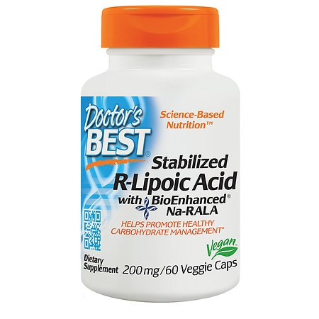 Doctor's Best Best Stabilized R-Lipoic Acid, 200mg, Veggie Caps