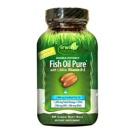 Irwin Naturals Double-Potency Fish Oil with Vitamin D3, Softgels - 60 ea