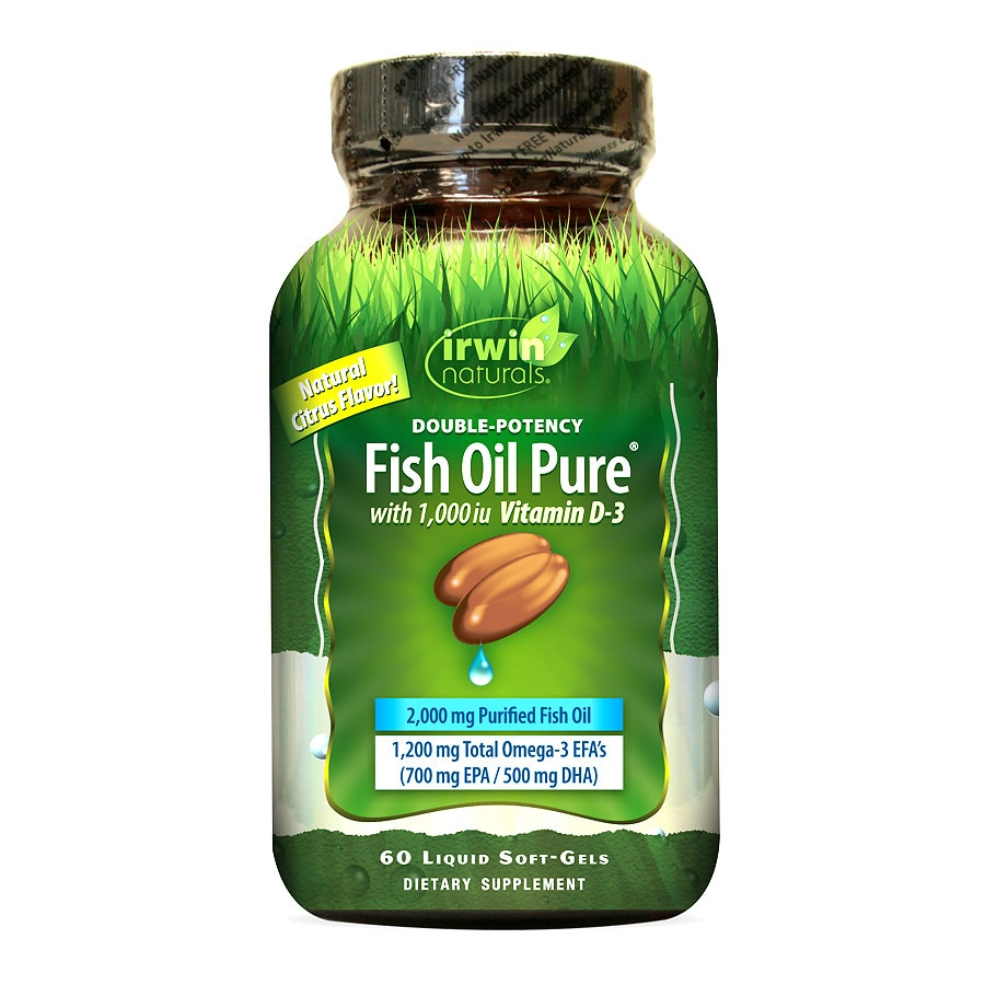 Irwin naturals double potency fish oil with vitamin d3 for Multivitamin with fish oil