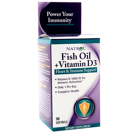 Natrol fish oil vitamin d3 dietary supplement softgels for Vitamin d fish