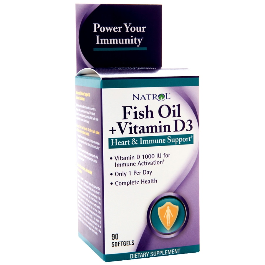 Natrol fish oil vitamin d3 dietary supplement softgels for Multivitamin with fish oil
