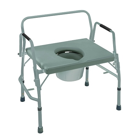Mabis extra wide heavy duty drop arm steel commode walgreens - Commode industrielle metal ...
