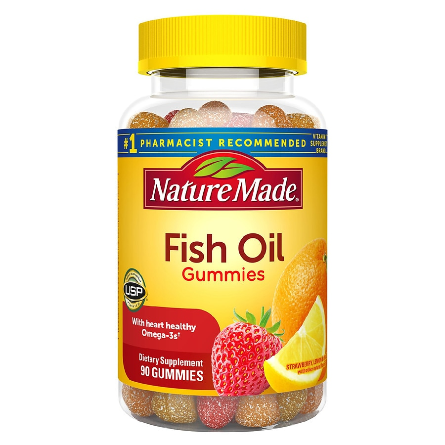 Nature made fish oil adult gummies pineapple orange peach for Nature made fish oil gummies