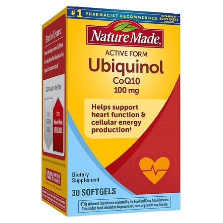 Nature Made Ubiquinol CoQ10 100 mg, Softgels - 30 ea