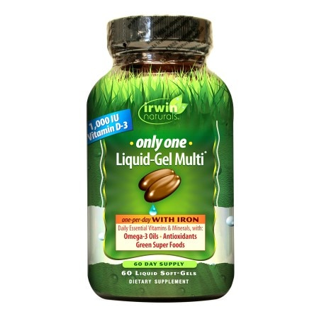 Irwin Naturals Only One Liquid-Gel Multi with Iron, Softgels - 60 ea