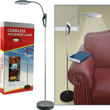 Trademark Home Portable Lamp Stand w/ LED Lights Cordless - 1 ea