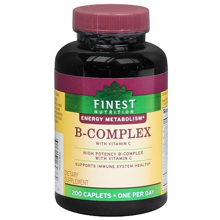 Finest Nutrition B-Complex with Vitamin C, Caplets - 200 ea