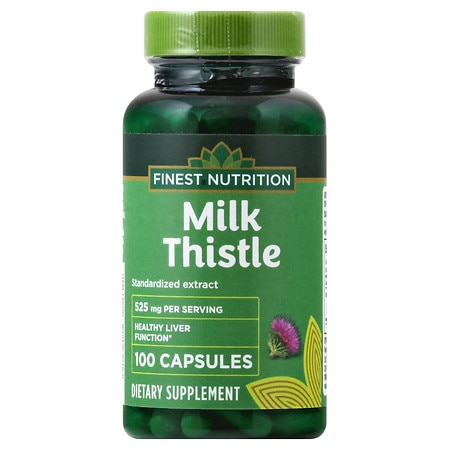 Finest Nutrition Milk Thistle 525 mg Dietary Supplement Capsules - 100 ea